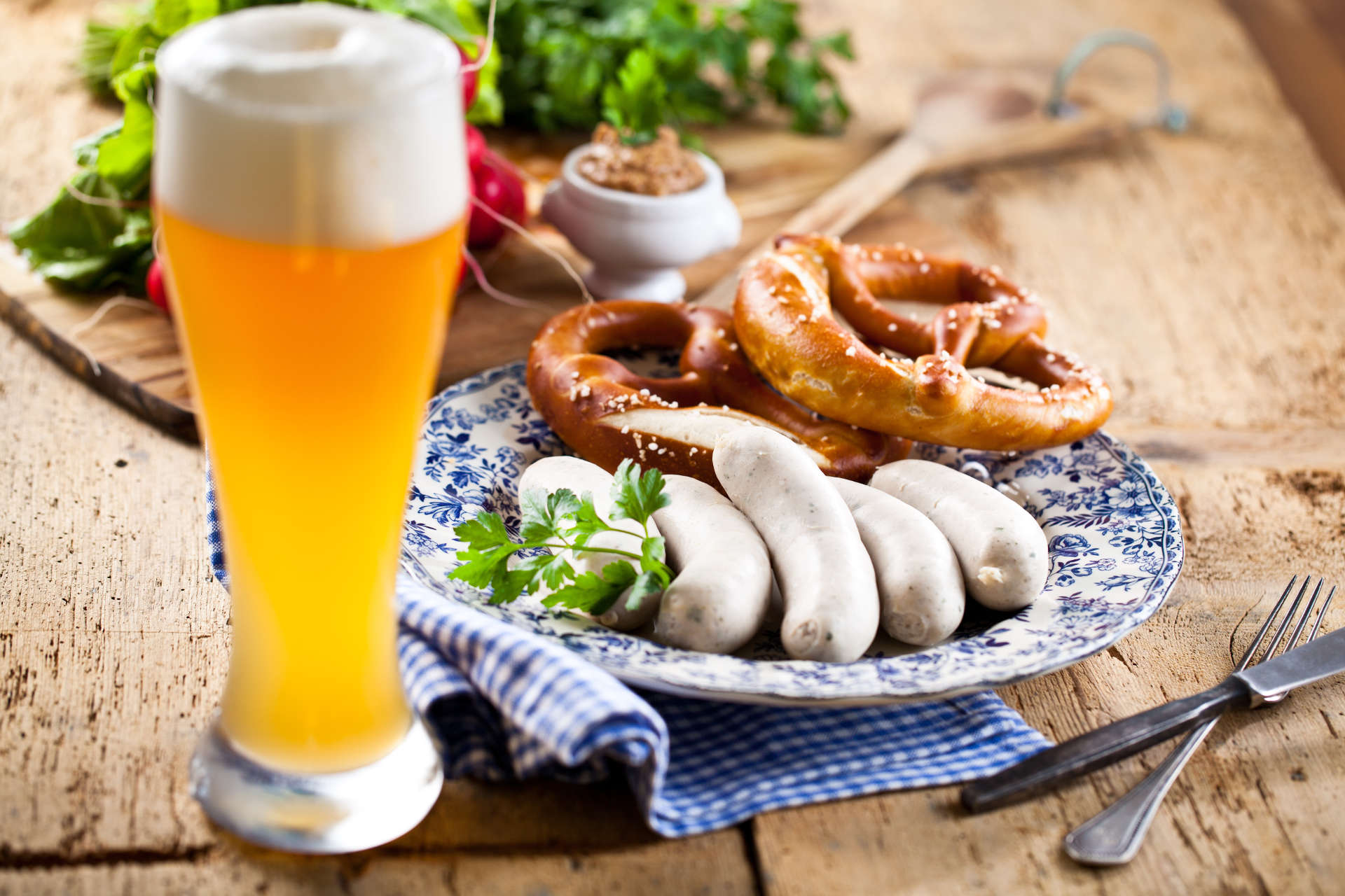 Bayrische Brotzeit des Gasthofs zum Bergerwirt in Buchbach