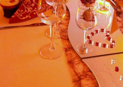 Details einer Tischdekoration des Gasthofs zum Bergerwirt Buchbach