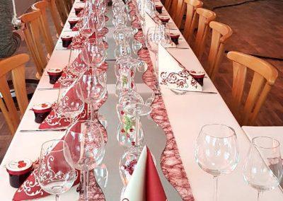 Tischdekoration des Gasthofs zum Bergerwirt Buchbach