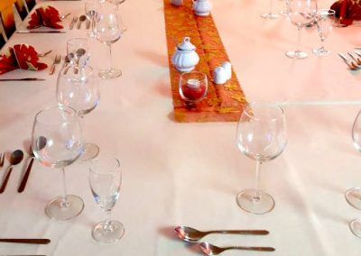 Weihnachtsdekoration des Gasthofs zum Bergerwirt Buchbach